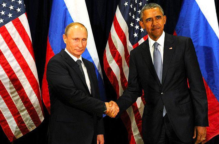 Former President Barack Obama and Vladimir Putin met at the United Nations General Assembly to discuss the Syrian crisis on Sept. 28, 2015.