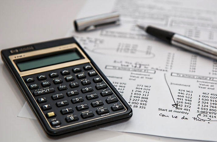 financial calculation calculator and investment sheet