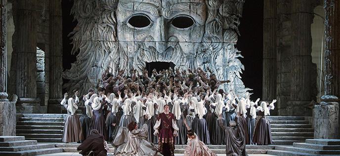 A scene from Mozart's Idomeneo opera