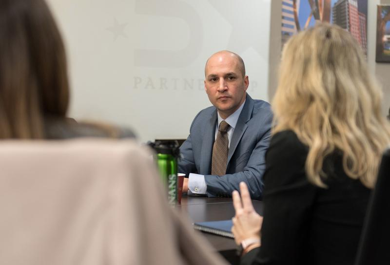 Senator Schiavoni meets with the Columbus Chamber. Schiavoni just announced his run for Ohio governor.