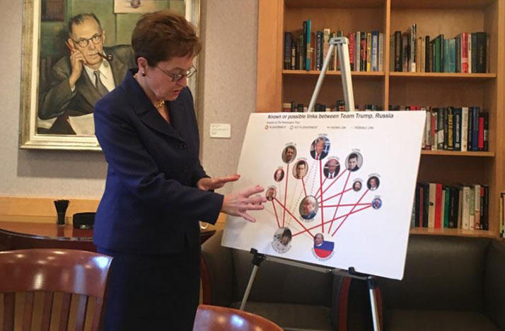 Congresswoman Kaptur looking for connections between President Trump and the Russians at last summer's RNC in Cleveland.