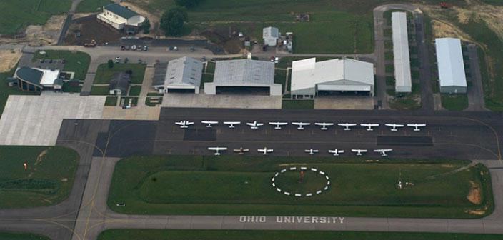 Aerial view of Ohio University Airport