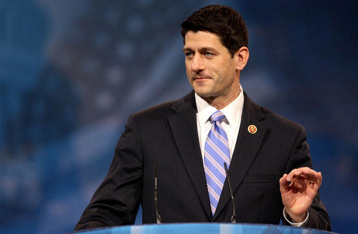 Congressman Paul Ryan of Wisconsin speaking at the 2013 Conservative Political Action Conference (CPAC) in National Harbor, Maryland.