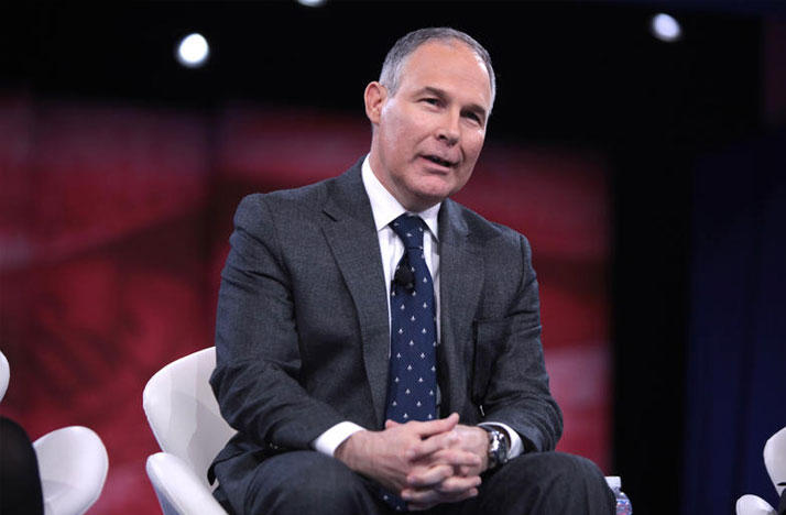 EPA Director Scott Pruitt at the 2016 CPAC Conference in National Harbor, MD.