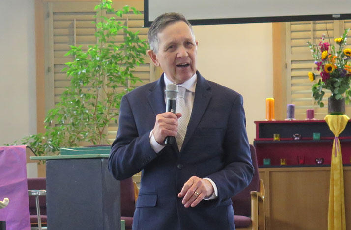 Dennis Kucinich speaking at a Columbus church
