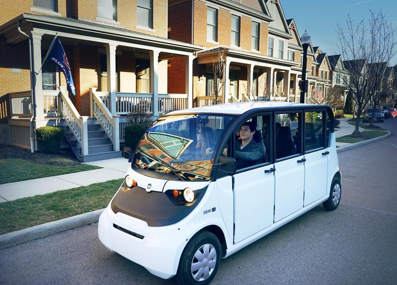Hopper Carts are six-person electric vehicles and will begin by serving the Short North area.
