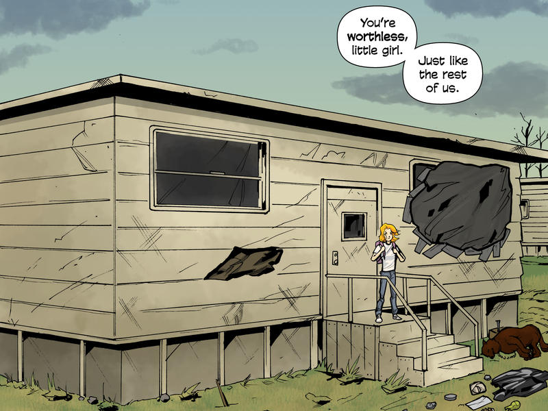 """Tara Rase created the comic series """"Refugee Road"""" about her life growing up in, and getting out of, Central Ohio."""