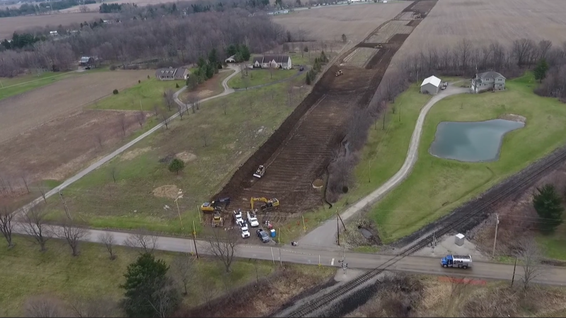 Construction on the Rover Pipeline in Richland County lead to an accidental mud spill.