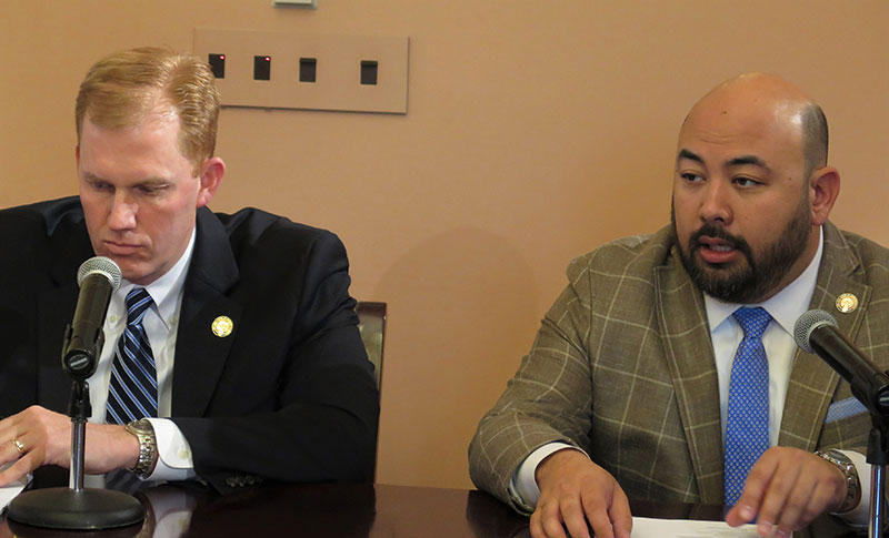 Rep. Ryan Smith (R-Bidwell, House Finance Chair) and House Speaker Cliff Rosenberger (R-Clarksville).