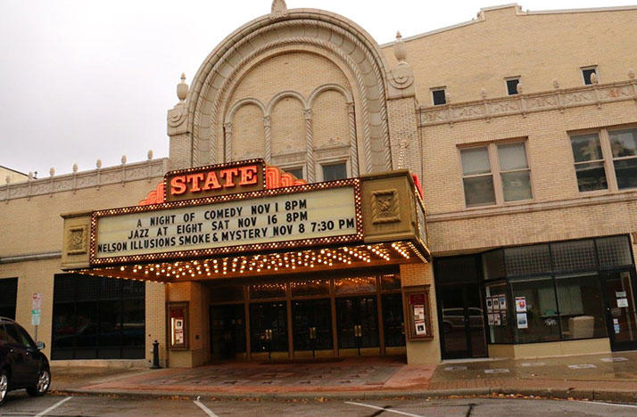 Exterior of the Sandusky State Theatre in Sandusky, Ohio