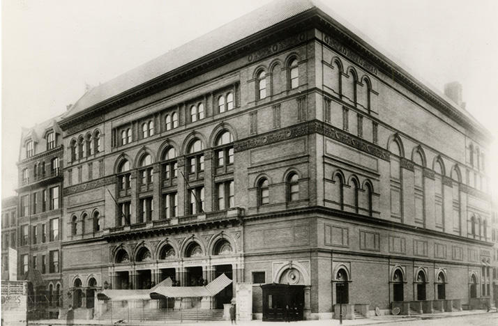 Carnegie Hall in 1891
