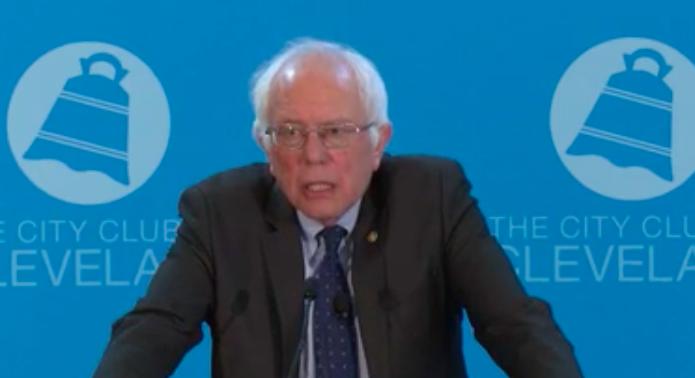 Senator Bernie Sanders of Vermont (D) spoke at the City Club on Monday.
