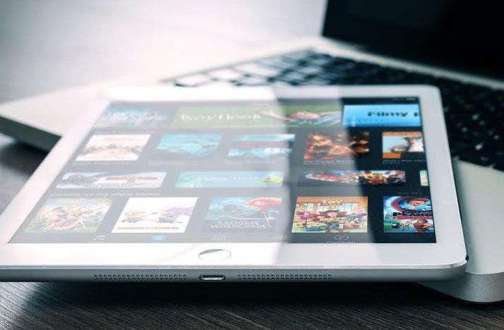 iPad with movies