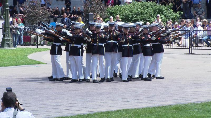 Silent Drill Platoon of U.S. Marine Band performs
