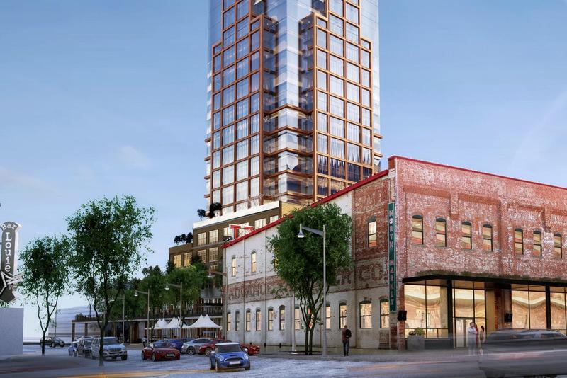 An artist's rendering of the 35-story tower that will overshadow the North Market.
