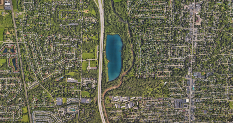 Parts of the Olentangy River were moved just south of Antrim Park during the construction of Route 315.