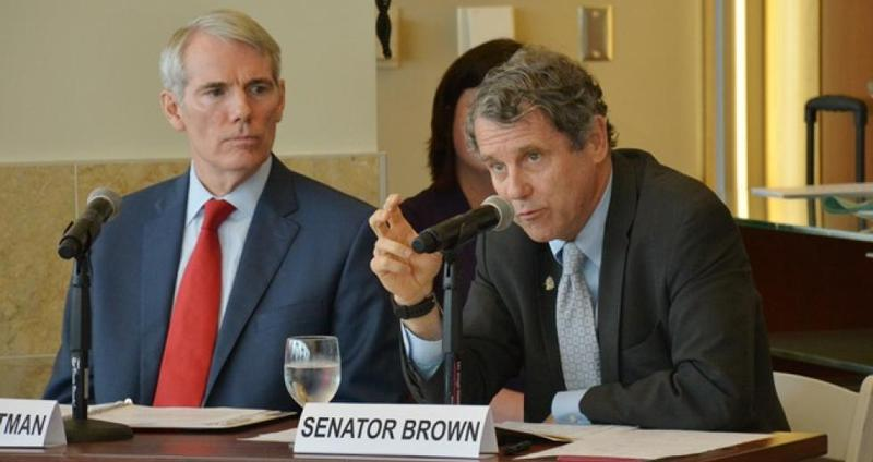 Ohio U.S. Sentators Rob Portman (left) and Sherrod Brown.