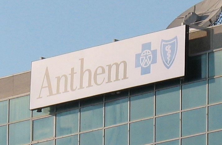 Anthem insurance sign on building.