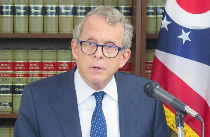 Ohio Attorney General Mike DeWine announces a law suit against five major drug companies.
