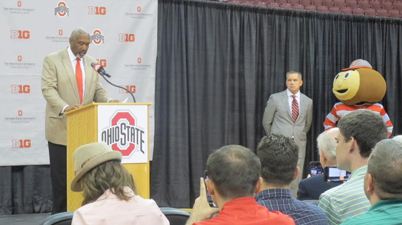 OSU Athletic Director Gene Smith introduces new coach Chris Holtmann