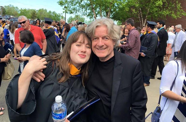 Conductor James Judd with his daughter Carissa at her May graduation from Quinnipiac University