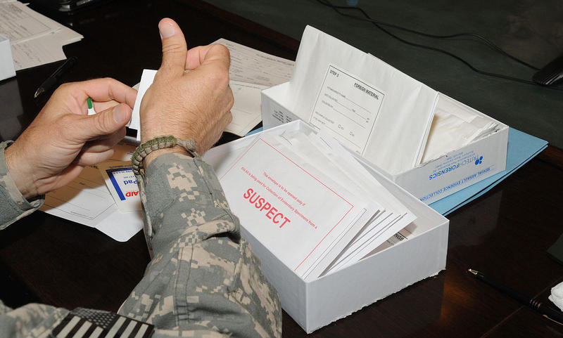 Medical professionals learn how to use the Sexual Assault Evidence Collection Kit.