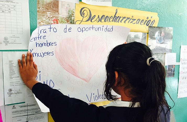 Mexican school student