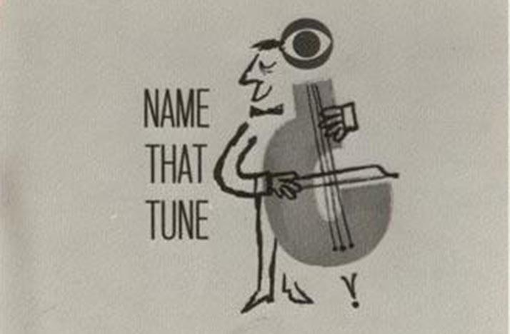 Name That Tune TV show logo from 1950s