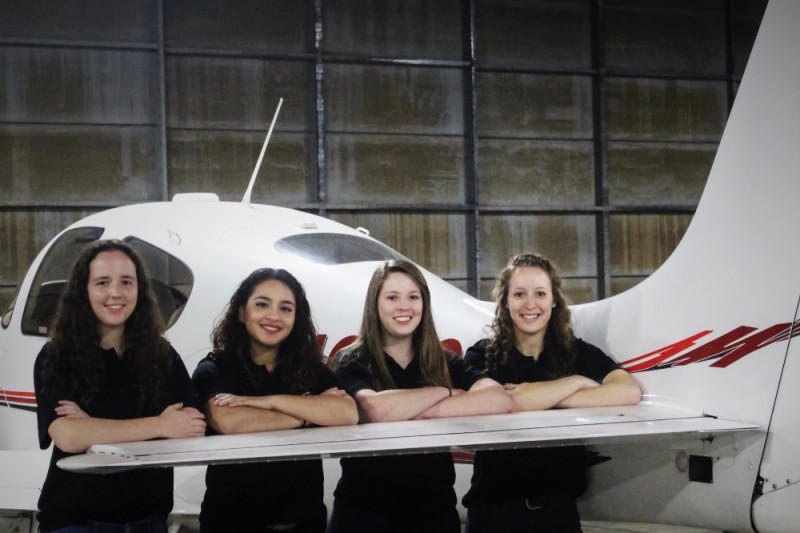 Three Ohio State pilots are taking part in an all-women cross-country airplane race.