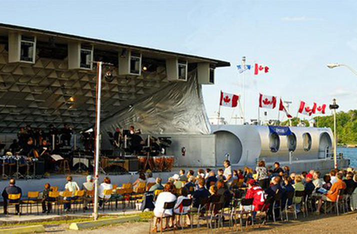 Point Counterpoint II, a 195-foot-long barge, was designed for orchestra concerts along the shore.