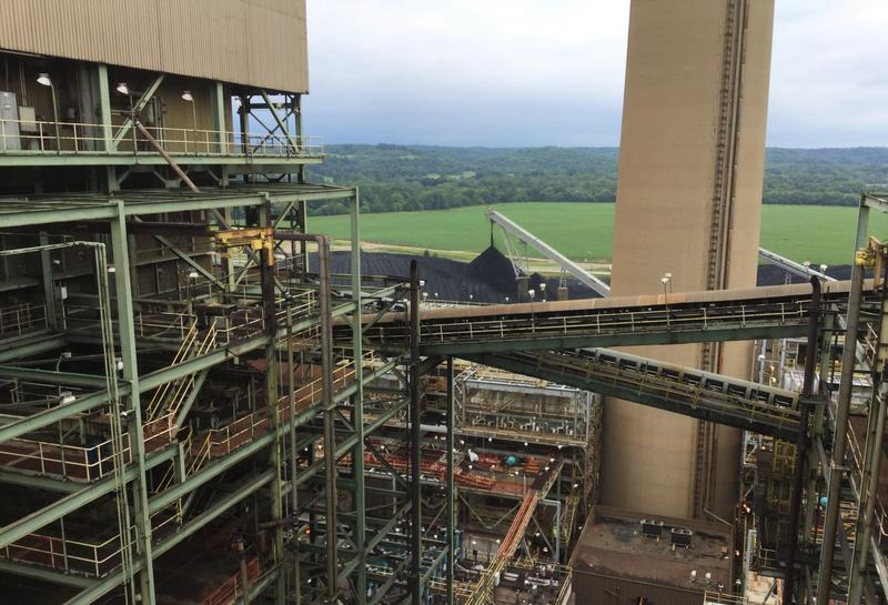 At a Conesville coal plant, scrubbers work to prevent air pollution.