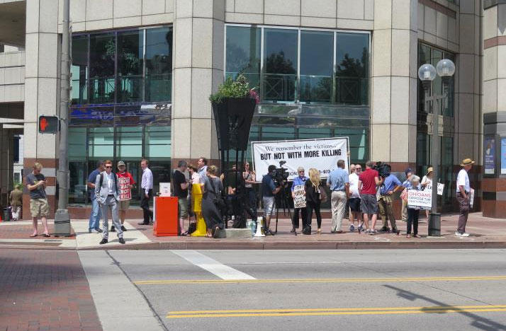 The participants protested the planned execution of Ronald Phillips on July 26.
