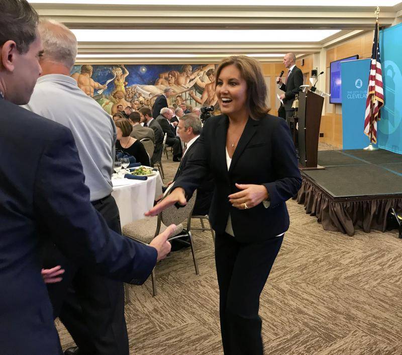 Lt. Gov. Mary Taylor made her official announcement at the City Club of Cleveland.