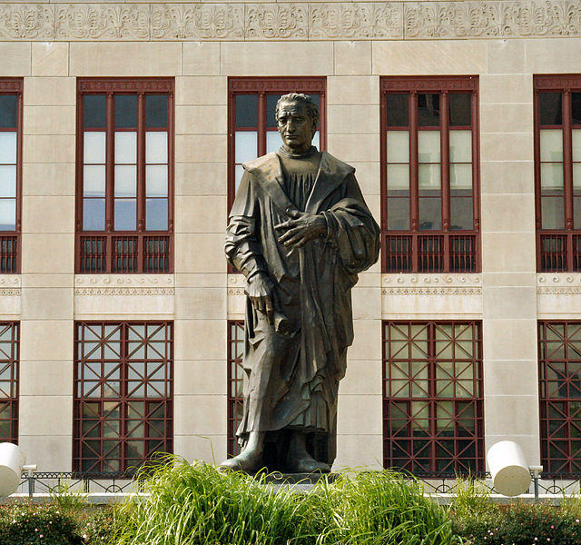 Statue of Christopher Columbus in front of Columbus City Hall