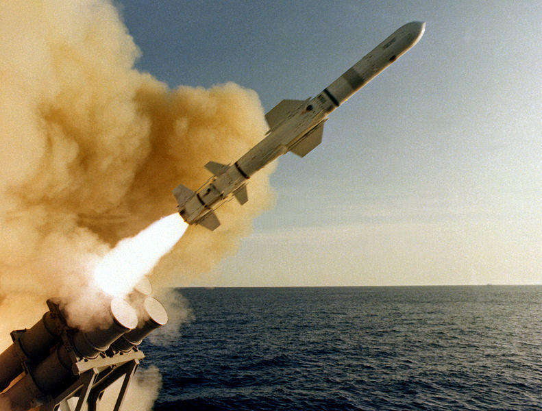 Missile launching for test near California