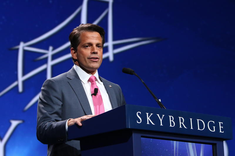 "Former Communications Director Anthony Scaramucci speaks at the 2016 SkyBridge Alternatives ""SALT"" Conference at the Bellagio Resort & Casino in Las Vegas."