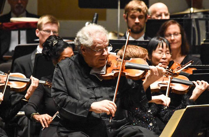 Itzhak Perlman performing with The Florida Orchestra in February