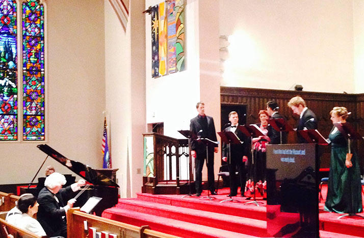 Mid-Ohio Opera sings 'La Boheme' at the First Presbyterian Church of Wooster, Ohio.