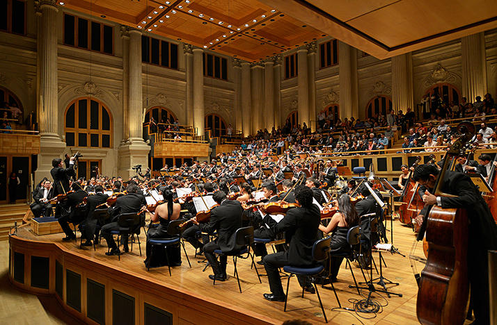 Venezuela's Simon Bolivar Youth Orchestra, conducted by Gustavo Dudamel