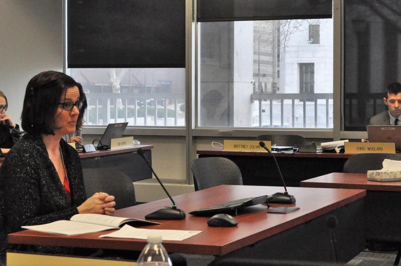 Amy O'Grady addresses the Ohio Board of Education.