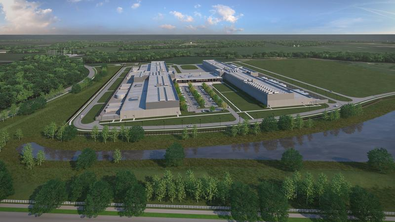 Plans for Facebook's $750 million data center in New Albany.