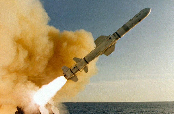 Missile launching for test near California.