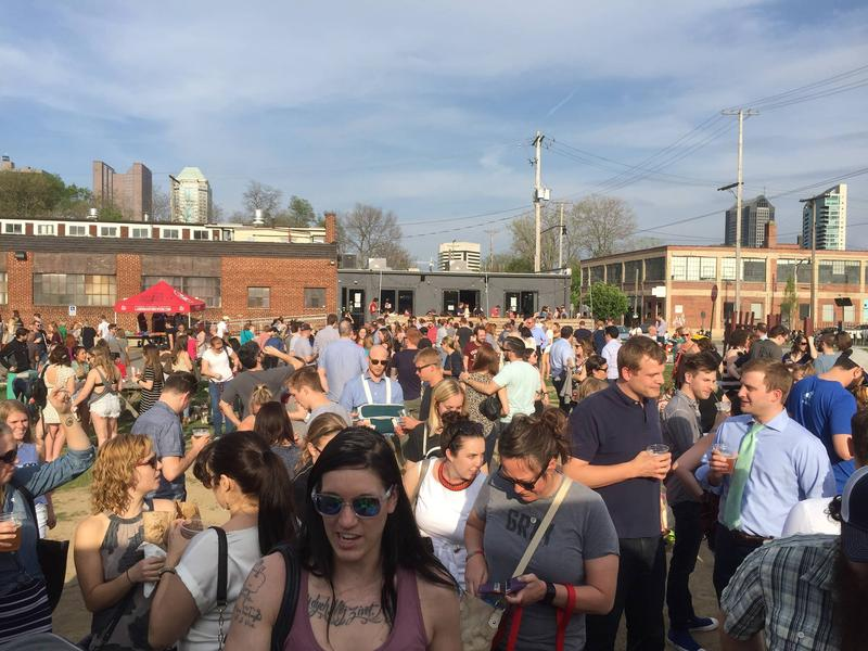 "Land Grant's ""Pups 'n' Pints"" event raised money for the Capital Area Humane Society."