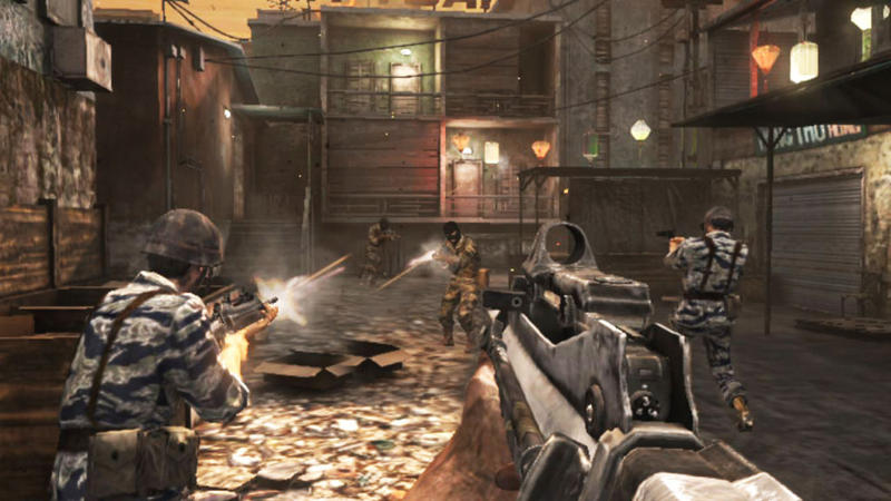 "Screenshot from the game ""Call of Duty."""
