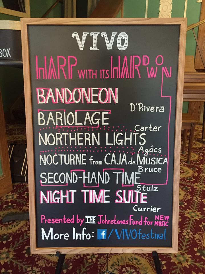 There's a lot on the menu at the VIVO Music Festival. This was the lineup from VIVO's opening night in 2016 at the Garden Theater.