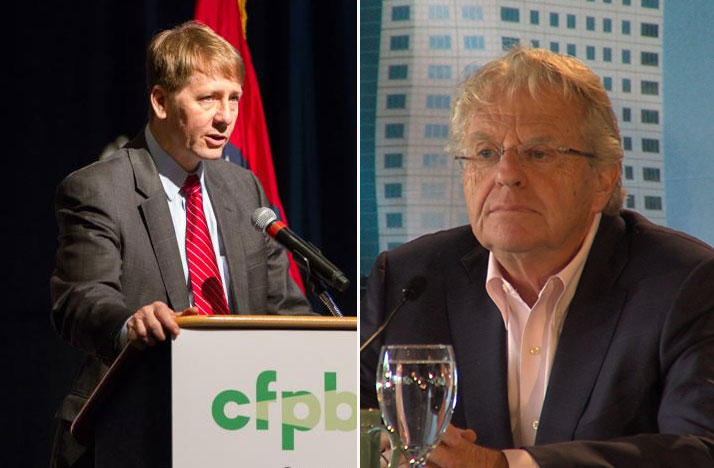 Richard Cordray (left) and Jerry Springer are considering a bid for governor.