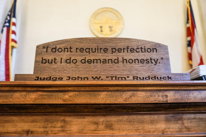 "Judge John Rudduck, who runs the U-Turn Recovery Docket, has a motto: ""I don't require perfection but I do demand honesty."""