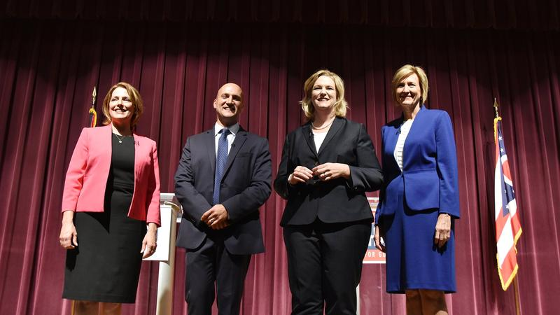 Ohio governor candidates Connie Pillich, Joe Schiavoni, Nan Whaley and Betty Sutton.