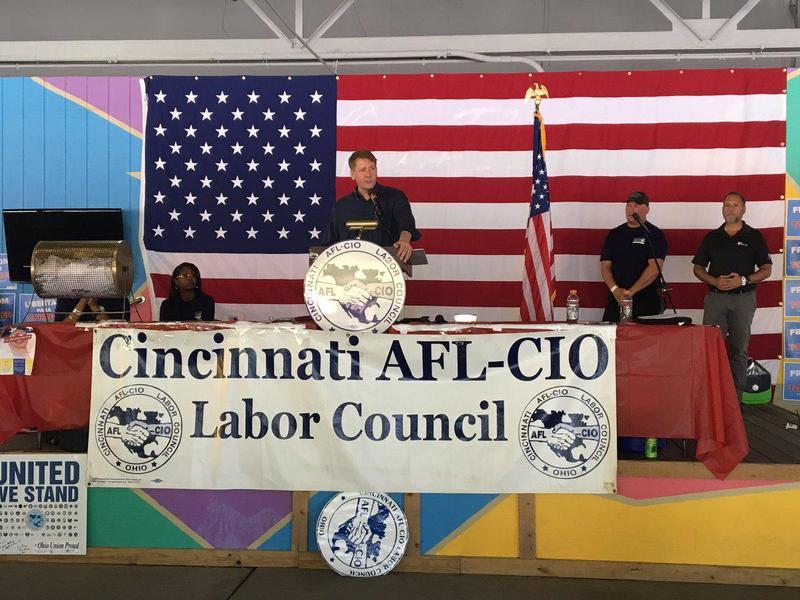 Cordray spoke at the AFL-CIO Labor Day Picnic on Monday.