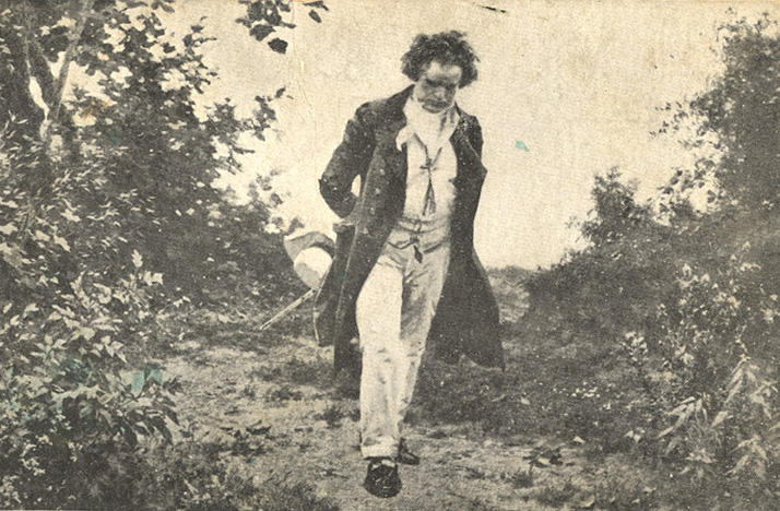 Beethoven taking a nature walk